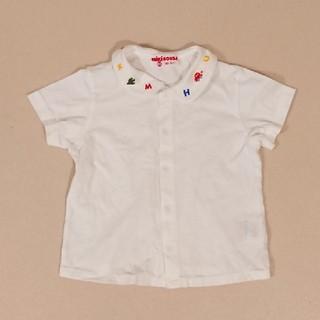 ミキハウス(mikihouse)の【80サイズ】ミキハウス 半袖ボタンシャツ(シャツ/カットソー)