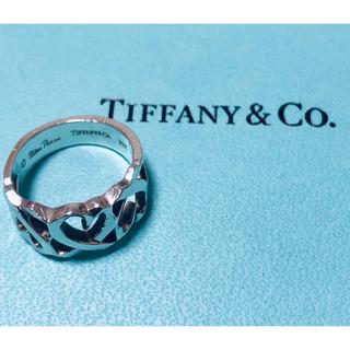ティファニー(Tiffany & Co.)のティファニー 3連オープンハートリング 7号(リング(指輪))