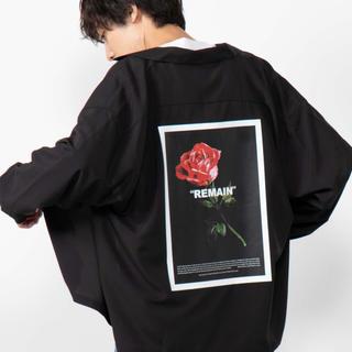 ウィゴー(WEGO)のWEGO/ROSE開襟オーバーシャツ(シャツ/ブラウス(長袖/七分))