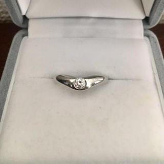 ティファニー(Tiffany & Co.)のティファニー ダイヤモンド カーブド バンド リング Pt950 6.0g(リング(指輪))