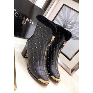シャネル(CHANEL)のCHANEL ブーツ ブラック 23cm(ブーツ)