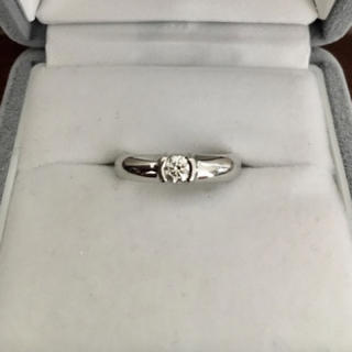 ティファニー(Tiffany & Co.)のティファニー ダイヤモンド ドッツ リング Pt950 0.20ct 7.3g(リング(指輪))