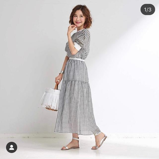 Chesty(チェスティ)の【新品、未使用】オブリ obli ギンガムチェックスカート レディースのスカート(ロングスカート)の商品写真