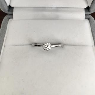 ティファニー(Tiffany & Co.)のティファニー ダイヤモンド ビゼット リング Pt950 3.5mm 2.6g(リング(指輪))