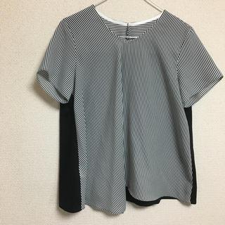 ニジュウサンク(23区)の23区 ストライプデザイン半袖トップス(カットソー(半袖/袖なし))