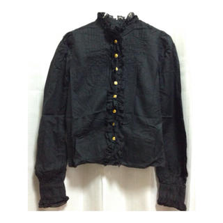ウィゴー(WEGO)のハイネックフリルシャツ(シャツ/ブラウス(長袖/七分))