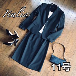 大きいサイズ マルゾット 高級 ウール100% 百貨店 黒 シンプル 七五三(スーツ)