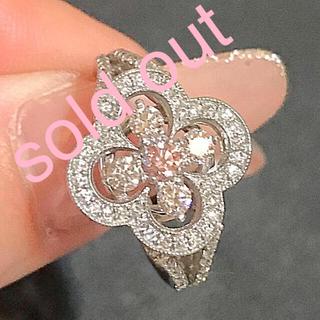 ピンクダイヤモンド リング 美品(リング(指輪))