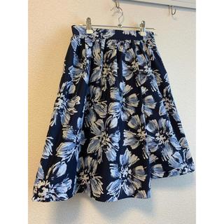 Swingle - 花柄 膝丈スカート