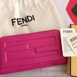 フェンディ(FENDI)のFENDI 長財布 カーブレザー フューシャーピンク(財布)