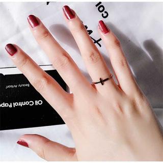 クロス 十字架 ダイヤ リング 指輪 ch014(リング(指輪))