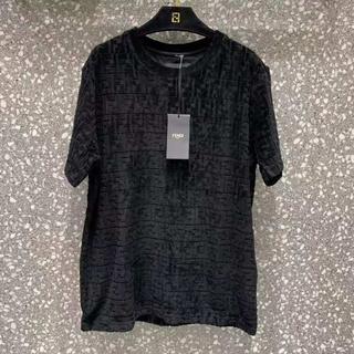 FENDI - 【FENDI】ジャクソンワンコラボ/シェニールTシャツ/FFロゴ/黒