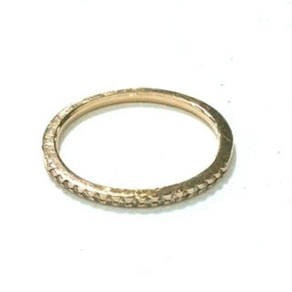 アガット(agete)のagete アガット ハーフエタニティリング K10 0.05カラット  (リング(指輪))