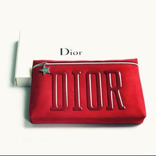 Christian Dior - ディオール クラッチバッグ  ポーチ レッド  箱付き