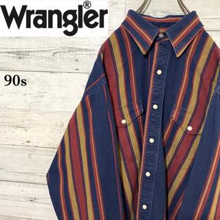 ラングラー(Wrangler)の【レア】ラングラー☆マルチストライプ ビッグサイズ コットン ウエスタンシャツ(シャツ)