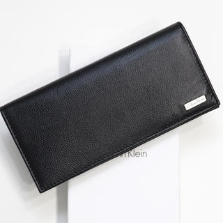 新品 カルバンクライン 財布 二つ折り 長財布 メンズ レザー 大容量 ブラック