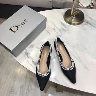ディオール(Dior)のDior ディオール 大人気 パンプス 刺繍ロゴ レディース ブラック (ハイヒール/パンプス)