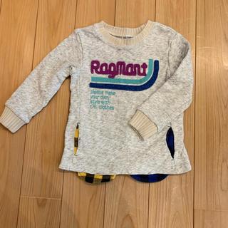 RAG MART - ラグマート 重ね着風 カットソー  トレーナー 100 男の子 女の子