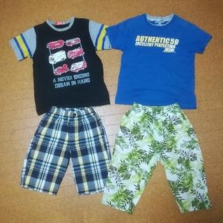 イッカ(ikka)のTシャツ、短パン 130夏物四点まとめ売り  トミカ(Tシャツ/カットソー)