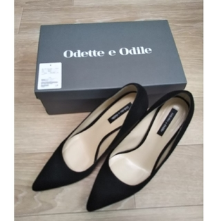 Odette e Odile - ポインテッドプレーン パンプス 85 ブラック