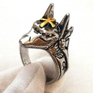 指輪 リング アヌビス エジプト 守護神 神 お守り シルバー メンズ 砂漠 銀(リング(指輪))