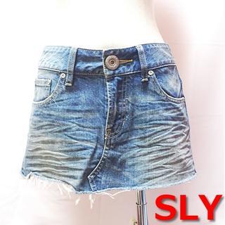 スライ(SLY)の【良品】 SLY ★ ダメージ加工 デニム スカート リメイク風(ミニスカート)