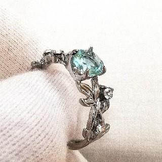 指輪 リング 植物 シルバー 葉 ジルコニア アクセサリー メンズ レディース(リング(指輪))