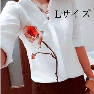 シフォン♡ブラウス Lサイズ(シャツ/ブラウス(長袖/七分))