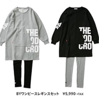 ロデオクラウンズワイドボウル(RODEO CROWNS WIDE BOWL)のテラ松ブラック ワンピ&レギンスのセットとブラックのロンTセット(Tシャツ(長袖/七分))