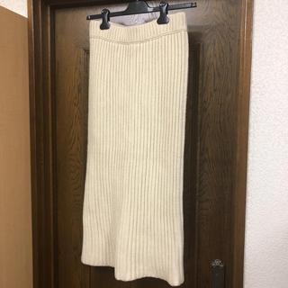マディソンブルー(MADISONBLUE)のMADISONBLUE マディソンブルー ニットスカート サイズ01 未使用品(ロングスカート)