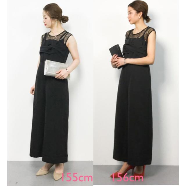 merlot(メルロー)のリボンビスチェ風 オールインワン パンツドレス merlot plus レディースのフォーマル/ドレス(その他ドレス)の商品写真