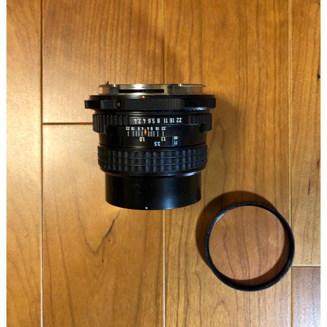 PENTAX(ペンタックス)の極上美品 PENTAX 67 TTL SMC 105mm f2.4 木製グリップ スマホ/家電/カメラのカメラ(フィルムカメラ)の商品写真