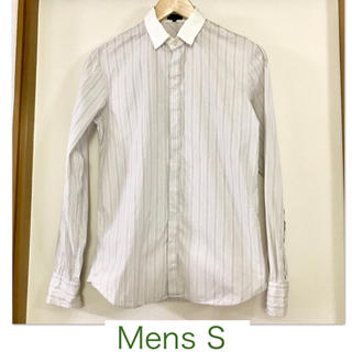 SHIPS - 【SHIPS/シップス】グレーのストライプ長袖シャツS メンズ