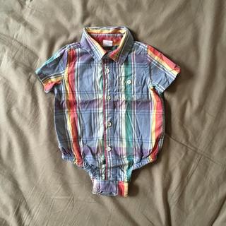 ベビーギャップ(babyGAP)のGAPベビー☆チェックシャツ(ロンパース)