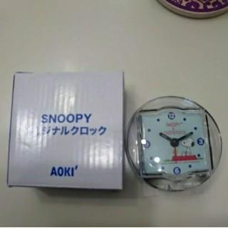 スヌーピー(SNOOPY)のレア 置き時計 snoopy オリジナルクロック(置時計)