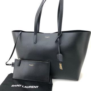 サンローラン(Saint Laurent)の【新品】[Saint Laurent] サンローラン レザートートバック 黒(トートバッグ)