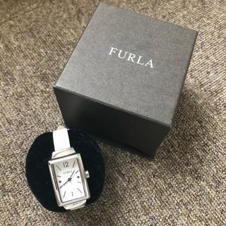 フルラ(Furla)の付け値承り中!FURLA フルラ 腕時計 白 ホワイト 革ベルト(腕時計)