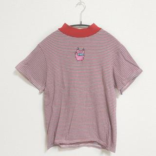プニュズ(PUNYUS)のPUNYUS ♦︎ タートルネックTシャツ ♦︎ 赤(Tシャツ(半袖/袖なし))
