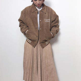 コンバース(CONVERSE)のCONVERSE Suede Leather Stadium Jacket(スタジャン)