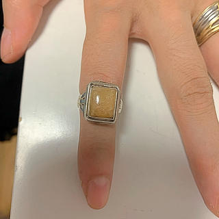 イエローカルセドニーのリングです。(リング(指輪))