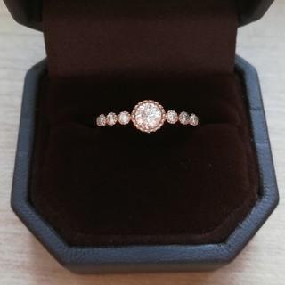 K18/ハーフエタニティ/ダイヤモンドリング(リング(指輪))