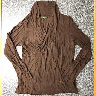 オベリスク(Obelisk)のobelisk / ロンT 襟周りドレープ(Tシャツ/カットソー(七分/長袖))