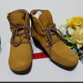 ベルメゾン(ベルメゾン)のBENEBIS ベネビス 本革ショートブーツ☆新品未使用☆24センチ(ブーツ)