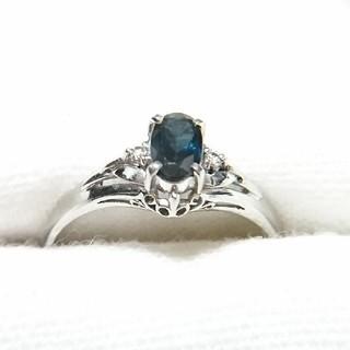 ★Pt900★ サファイア  ダイヤモンド プラチナ リング(リング(指輪))