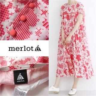 メルロー(merlot)のmerlot*メルロー【美品】花柄ワンピース(ロングワンピース/マキシワンピース)