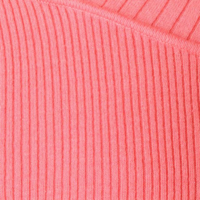 MERCURYDUO(マーキュリーデュオ)の新品 MERCURYDUO カシュクールリブニット ピンク セーター トップス レディースのトップス(ニット/セーター)の商品写真