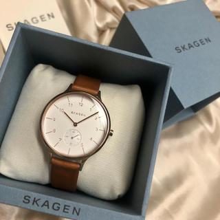 スカーゲン(SKAGEN)のお値下げ ❤︎SKAGEN❤︎ レザーベルト 腕時計(腕時計)
