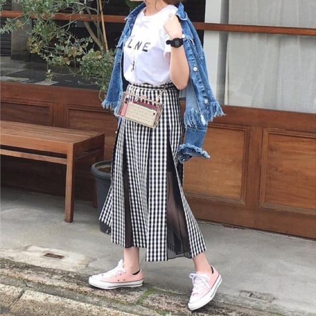 JILLSTUART(ジルスチュアート)のジルスチュアート ギンガムチェックプリーツロングスカート  レディースのスカート(ロングスカート)の商品写真