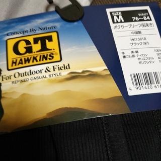 ジーティーホーキンス(G.T. HAWKINS)の新品 メンズ ボクサーブリーフ Mサイズ ブラック(ボクサーパンツ)