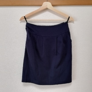 インディヴィ(INDIVI)のインディヴィ 秋冬用スカート ブラックネイビー(その他)